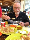 Indian Food roti prata